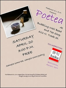 Post image for PoeTea: Sat April 20 in Winston-Salem